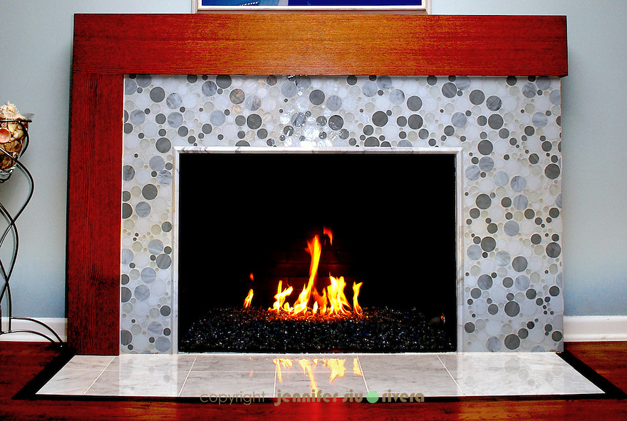 Olmos Park residence fireplace