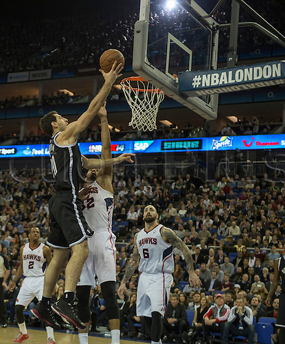 16.01.2014 London, England.  Brooklyn Nets' \F Tornike Shengelia [20] during the NBA regular season game between the Atlanta Hawks and the Brooklyn Nets from the O2 Arena.
