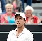 Nederland, Rosmalen, 20 juni 2012.Seizoen 2011/2012.Tennis Unicef open 2012\.Igor Sijsling uit Nederland is blij met zijn overwinning