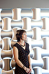 Kelly Munro's husband Steve passed away during the building the newly-opened Atlanta Ballet Michael C. Carlos Dance Centre in Atlanta, Georgia, so she had to step in. She stands in front of metal wall-covering in the lobby that will have the names of donors etched into it, seen September 13, 2010.