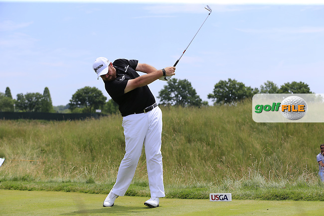 Shane Lowry (IRL) tees off the 11th tee during Wednesday's Practice Day of the 2016 U.S. Open Championship held at Oakmont Country Club, Oakmont, Pittsburgh, Pennsylvania, United States of America. 15th June 2016.<br /> Picture: Eoin Clarke | Golffile<br /> <br /> <br /> All photos usage must carry mandatory copyright credit (&copy; Golffile | Eoin Clarke)