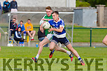 In Action Rangers Tommy Kennelly gets away from St. Brendan's Alan O'Donoghue at the  Garvey's SuperValu Senior County Championship Round 2 Shannon Rangers V St. Brendan's at Frank Sheehy Park, Listowel on Saturday