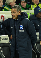 Brighton & Hove Albion manager Chris Hughton  <br /> <br /> Photographer David Horton/CameraSport<br /> <br /> The Premier League - Brighton and Hove Albion v Arsenal - Wednesday 26th December 2018 - The Amex Stadium - Brighton<br /> <br /> World Copyright © 2018 CameraSport. All rights reserved. 43 Linden Ave. Countesthorpe. Leicester. England. LE8 5PG - Tel: +44 (0) 116 277 4147 - admin@camerasport.com - www.camerasport.com