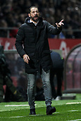 13th April 2018, Estadi Montilivi, Girona, Spain; La Liga football, Girona versus Real Betis; Pablo Machin coach of Girona gives instructions to his players