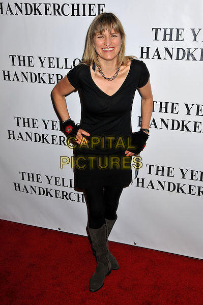 "CATHERINE HARDWICKE, Director.""The Yellow Handkerchief"" Los Angeles Premiere at the WGA Theatre, Beverly Hills, California, USA..November 25th, 2008.full length black dress hands on hips tights brown boots .CAP/ADM/BP.©Byron Purvis/AdMedia/Capital Pictures."