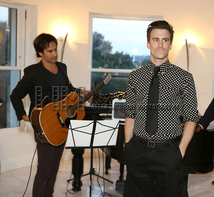 Robbie Routh and Gavin Creel perform at 'Parlor Night' A benefit evening for The Broadway Inspirational Voices Outreach Program at the home of Roy and Jenny Neiderhoffer on June 22, 2015 in New York City.