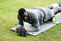 Davinson Sanchez, Player of Tottenham Hotspur attends a training ahead of the UEFA Champions League match against Olympiacos FC, in Karaiskaki Stadium in Piraeus, Greece. Tuesday 17 September 2019