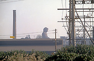 October, 1980. Nagoya, Japan. The Nagoya Buddha located in the industrial area of Nagoya.