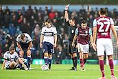 12th September 2017, Villa Park, Birmingham, England; EFL Championship football, Aston Villa versus Middlesbrough; Robert Snodgrass of Aston Villa receives a yellow card