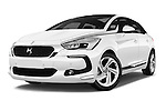 Stock pictures of low aggressive front three quarter view of 2016 Citroen DS5 Sport Chic 5 Door Hatchback Low Aggressive