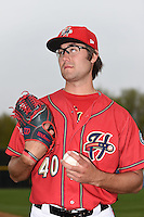 Harrisburg Senators pitcher Matt Purke (40) poses for a photo before a game against the New Britain Rock Cats on April 28, 2014 at Metro Bank Park in Harrisburg, Pennsylvania.  Harrisburg defeated New Britain 9-0.  (Mike Janes/Four Seam Images)