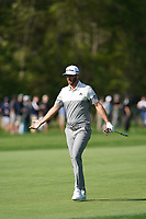 Dustin Johnson (USA) on the 12th fairway during the 1st round at the PGA Championship 2019, Beth Page Black, New York, USA. 17/05/2019.<br /> Picture Fran Caffrey / Golffile.ie<br /> <br /> All photo usage must carry mandatory copyright credit (&copy; Golffile | Fran Caffrey)