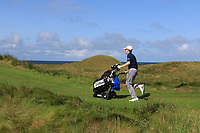 Ronan Mullarney (Galway) on the 14th during Matchplay Semi-Finals of the AIG Irish Amateur Close Championship 2019 in Ballybunion Golf Club, Ballybunion, Co. Kerry on Wednesday 7th August 2019.<br /> <br /> Picture:  Thos Caffrey / www.golffile.ie<br /> <br /> All photos usage must carry mandatory copyright credit (© Golffile | Thos Caffrey)