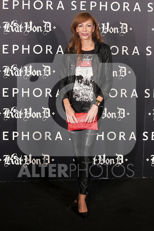 Kat Von D´s make-up presentation in Madrid, Spain. October 07, 2015. (ALTERPHOTOS/Victor Blanco)