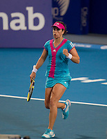 ANABEL MEDINA GARRIGUES (ESP) against JARMILA GAJDOSOVA (AUS)  in the group stage of the Hopman Cup. Australia beat Spain 6-3 3-6 6-3..01/01/2012, 1st January 2012, 01.01.2012..The HOPMAN CUP, Burswood Dome, Perth, Western Australia, Australia.@AMN IMAGES, Frey, Advantage Media Network, 30, Cleveland Street, London, W1T 4JD .Tel - +44 208 947 0100..email - mfrey@advantagemedianet.com..www.amnimages.photoshelter.com.