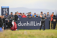 Paul Waring (ENG) on the 15th tee during Round 4 of the Alfred Dunhill Links Championship 2019 at St. Andrews Golf CLub, Fife, Scotland. 29/09/2019.<br /> Picture Thos Caffrey / Golffile.ie<br /> <br /> All photo usage must carry mandatory copyright credit (© Golffile | Thos Caffrey)
