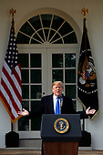 "President Donald J. Trump delivers remarks on the ""National Security and Humanitarian Crisis on the Southern Border"" during a Rose Garden event at the White House, in Washington, DC, 2-15-19.United States President Donald J. Trump makes remarks as he declares a National Emergency over the southern border and the need for border security during an appearance in the Rose Garden of the White House in Washington, DC on Friday, February 15, 2019.<br /> Credit: Martin H. Simon / CNP"