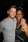 Season 18 contestant Paulie Calafiore poses with season 2 Monica Bailey at Big Brother 19 premiere on June 28, 2017 at Slate, New York City, New York. (Photo by Sue Coflin/Max Photos)