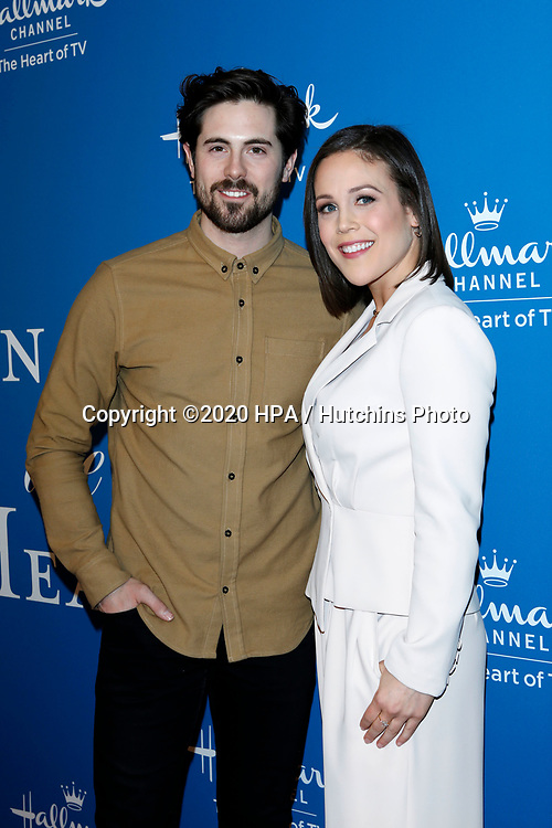 LOS ANGELES - FEB 11:  Chris McNally, Erin Krakow at the 'When Calls the Heart' TV show season 7 premiere at the Beverly Wilshire Hotel on February 11, 2020 in Beverly Hills, CA