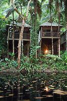 Rainforest villas at the Daintree Eco Lodge and Spa.  Daintree, Queensland, Australia