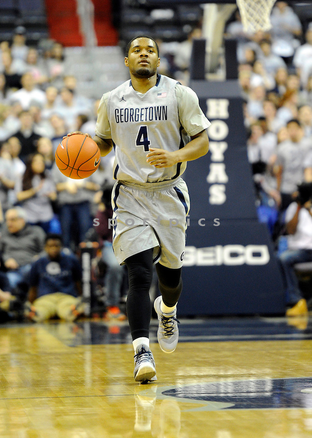 Georgetown Hoyas D'Vauntes Smith-Rivera (4) during a game against  Creighton on March 4, 2014 at the Verizon Center in Washington, DC. Georgetown beat Creighton 75-63.