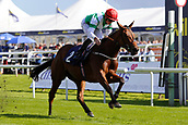 14th September 2017, Doncaster Racecourse, Doncaster, England; The William Hill St Ledger Festival, DFS Ladies Day; Ellthea ridden by Clifford Lee wins the EBF British Stallion Studs 'Carrie Red Fillies' Nursery Handicap Stakes Class 2