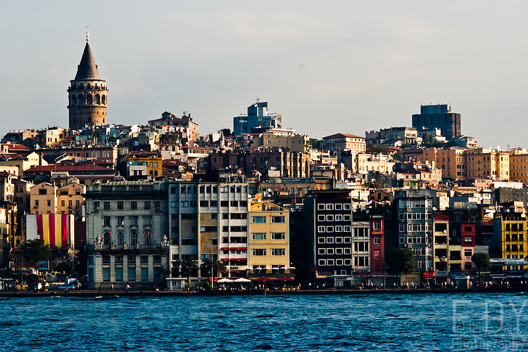View on Galata side upon the golden horn, Istanbul (Turkey).
