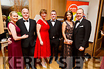 Maria and Morgan O'Flaherty, Niamh Hennessy, Paudie Lucid, Helen and Ronan Falvey attending the Enable Ireland Diamond Ball in the Ballygarry House Hotel on Saturday.