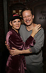 "Kelli O'Hara and Will Chase during the Broadway Opening Night Legacy Robe Ceremony honoring Erica Mansfield for  ""Kiss Me, Kate""  at Studio 54 on March 14, 2019 in New York City."