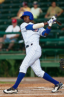 Junior Lake of the Daytona Cubs during the game at Jackie Robinson Ballpark in Daytona Beach, Florida on August 29, 2010. Photo By Scott Jontes/Four Seam Images