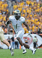 SEPTEMBER 17, 2011: Colorado State Rams linebacker Mike Orakpo (1)     during an inter-conference game between the Colorado State Rams and the University of Colorado Buffaloes at Sports Authority Field at Mile High Field in Denver, Colorado. The Buffaloes led 14-7 at halftime*****For editorial use only*****