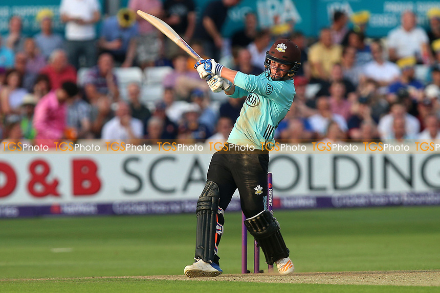 Sam Curran hits six runs for Surrey during Essex Eagles vs Surrey, NatWest T20 Blast Cricket at The Cloudfm County Ground on 7th July 2017