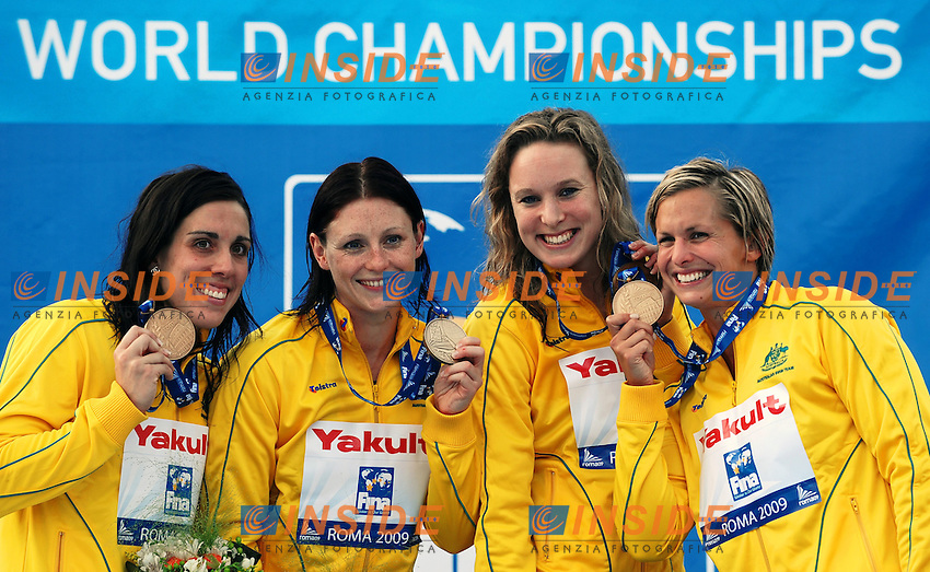 Roma 26th July 2009 - 13th Fina World Championships From 17th to 2nd August 2009.Women's 4x100 Relay Freestyle.Australia Bronze Medal.photo: Roma2009.com/InsideFoto/SeaSee.com .Foto Andrea Staccioli Insidefoto