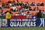 26 March 2008: A field sign board advertises the 2010 FIFA World Cup in South Africa. The El Salvador Men's National Team defeated the Anguilla Men's National Team 4-0 at RFK Stadium in Washington, DC in the second leg of their CONCACAF First Round FIFA World Cup Qualifier. El Salvador won the series 16-0 on aggregate goals, advancing to the next round and eliminating Anguilla.
