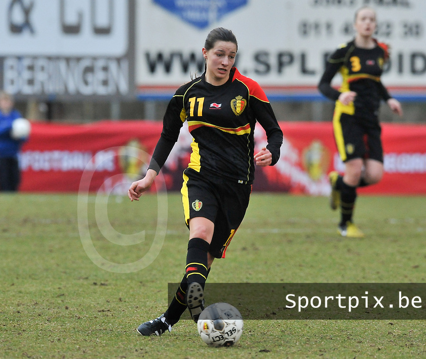 Denmark U17 - Belgium U17 : Shayna Raekelboom.foto DAVID CATRY / Vrouwenteam.be
