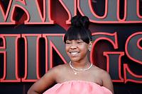 "LOS ANGELES - JUN 28:  Priah Ferguson at the ""Stranger Things"" Season 3 World Premiere at the Santa Monica High School on June 28, 2019 in Santa Monica, CA"