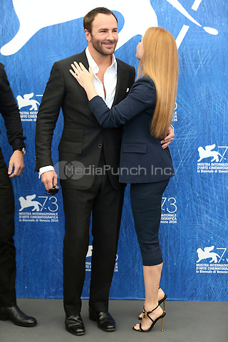 Tom Ford, Amy Adams attends the photocall of 'Nocturnal Animals' during the 73rd Venice Film Festival at Palazzo del Casino on September 2, 2016 in Venice, Italy.<br /> CAP/GOL<br /> &copy;GOL/Capital Pictures /MediaPunch ***NORTH AND SOUTH AMERICAS ONLY***