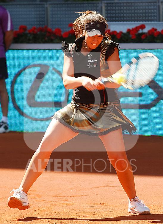 Aravane Rezai during Tennis Madrid Open match, May 15,2010..(Alfaqui/Alberto Simon)