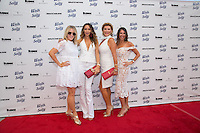Liz Roman, Courtney Sixx, Laney Ziv and Tara Klein attend the 10th Annual White Light White Night Charity Fundraiser Benefiting Walk With Sally at The Rooftop of the Plaza at Continental Park in El Segundo, CA on Saturday, July 23, 2016 (Photo by Inae Bloom/Guest of a Guest)