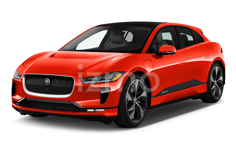 2019 Jaguar I Pace HSE 5 Door Hatchback angular front stock photos of front three quarter view