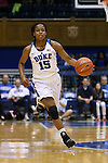 31 December 2015: Duke's Kyra Lambert. The Duke University Blue Devils hosted the University of North Carolina Wilmington Seahawks at Cameron Indoor Stadium in Durham, North Carolina in a 2015-16 NCAA Division I Women's Basketball game. Duke won the game 78-56.