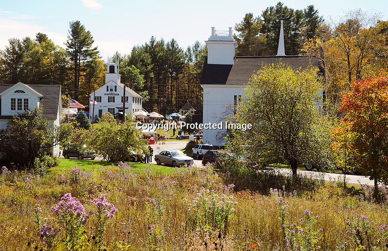 Annual Harvest Festival during Fall Season in the Rural Village of Marlow, New Hampshire USA