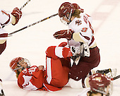 Holly Lorms (BU - 8), Taylor Wasylk (BC - 9) - The Boston College Eagles defeated the Boston University Terriers 2-1 in the opening round of the Beanpot on Tuesday, February 8, 2011, at Conte Forum in Chestnut Hill, Massachusetts.