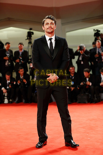 James Franco.The 'Spring Breakers' Premiere during The 69th Venice Film Festival at the Palazzo del Cinema, Venice, Italy.September 5th, 2012 .full length black suit white shirt beard facial hair  .CAP/IPP/GR.©Gianluca Rona/IPP/Capital Pictures.
