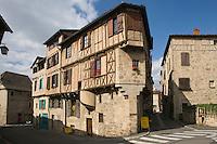 Europe/France/Midi-Pyrénées/46/Lot/Figeac: maison médiévales à l'angle de la rue du Canal et de la rue Emile Zola