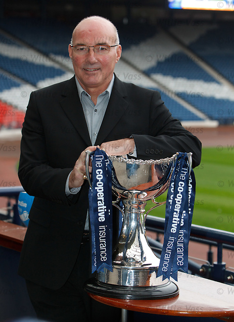 Willie Miller of Aberdeen with the League Cup at Hampden