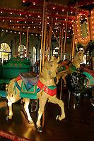 A  beautiful   historic Carousel housed in the Looff's Pleasure Pier Building in Santa Monica California .