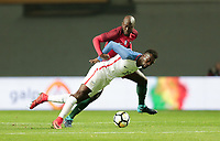 Leiria, Portugal - Tuesday November 14, 2017: C.J. Sapong during an International friendly match between the United States (USA) and Portugal (POR) at Estádio Dr. Magalhães Pessoa.