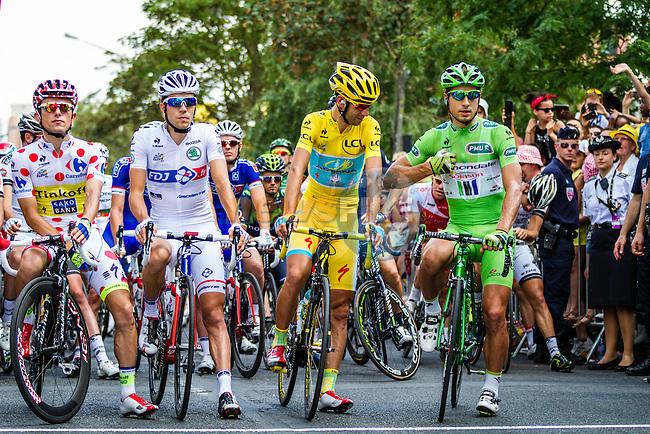 Vincenzo Nibali, Astana Pro Team, Peter Sagan, Cannondale Pro Cycling, Rafal Majka, Tinkoff-Saxo, Thibaut Pinot, FDJ, Tour de France, Stage 21: Évry > Paris Champs-Élysées, UCI WorldTour, 2.UWT, Evry, France, 27th July 2014, Photo by Thomas van Bracht