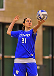 28 October 2012: Yeshiva University Maccabee Michelle Levine, a Sophomore from Teaneck, NJ, in action against the Old Westbury Panthers at SUNY Old Westbury in Old Westbury, NY. The Panthers defeated the Maccabees 3-0 in NCAA women's volleyball play. Mandatory Credit: Ed Wolfstein Photo